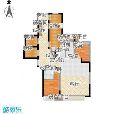 金融街和平中心126.00㎡一期高层标准层D户型