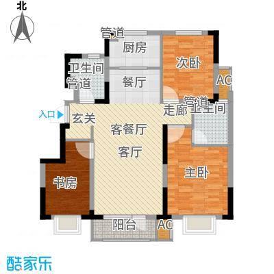 中建幸福城115.00㎡二期洋房标准层中户型