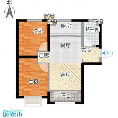 中建幸福城85.00㎡二期高层标准层户型