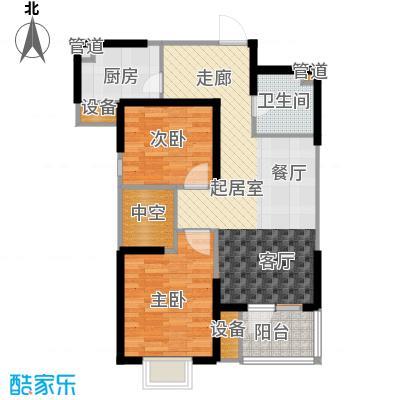 福源九方95.00㎡高层标准层D2户型