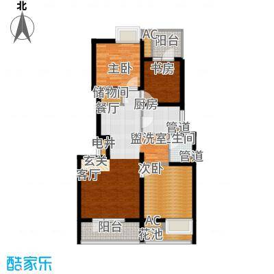 景瑞阳光尚城90.00㎡一期艺墅洋房标准层H2户型