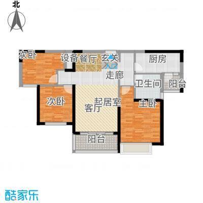 恒大绿洲105.44㎡12#1单元2-22层063室户型