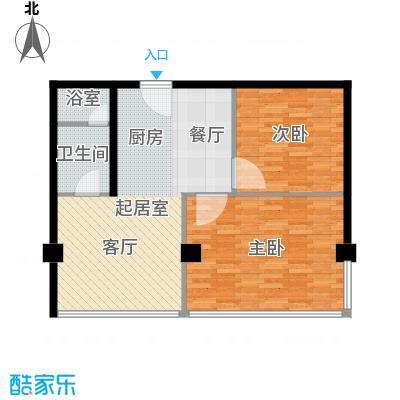 鼎泰精装公寓90.00㎡高层标准层户型