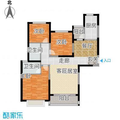 恒大绿洲121.58㎡12#1单元2-22层053室户型