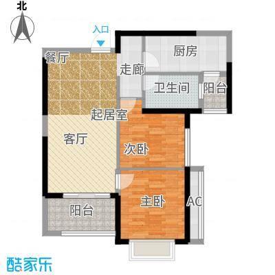 恒大绿洲80.69㎡14#1单元首层112室户型