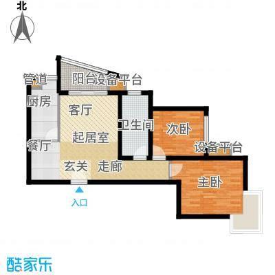 东壹区89.00㎡高层8号楼标准层F1户型