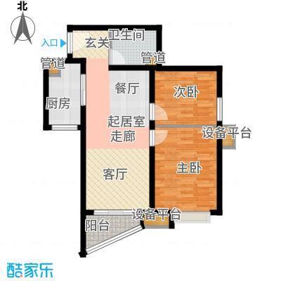 东壹区88.00㎡高层8号楼标准层F2户型
