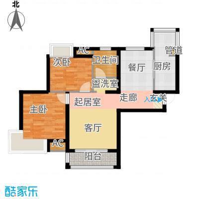 东壹区104.00㎡高层4号楼标准层C2户型
