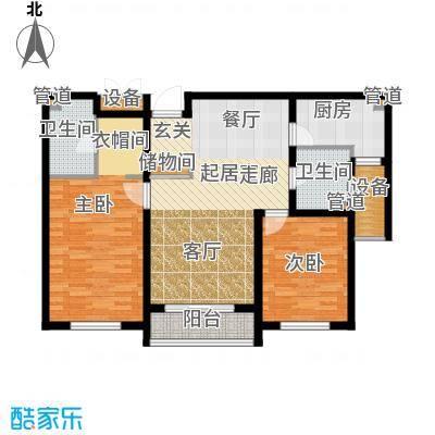 荣馨园115.29㎡一期高层标准层D2户型