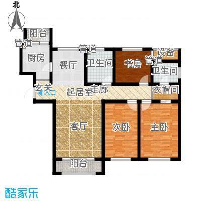 荣馨园149.22㎡一期高层标准层D3户型