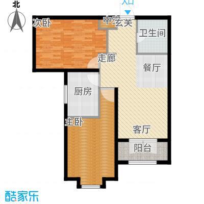 天津星河花园98.72㎡二期高层标准层F户型