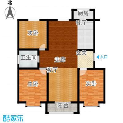 天津星河花园134.66㎡二期高层标准层C户型