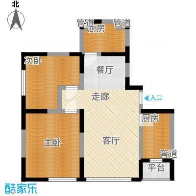智造创想城92.07㎡洋房8/12/16号楼c1标准层户型