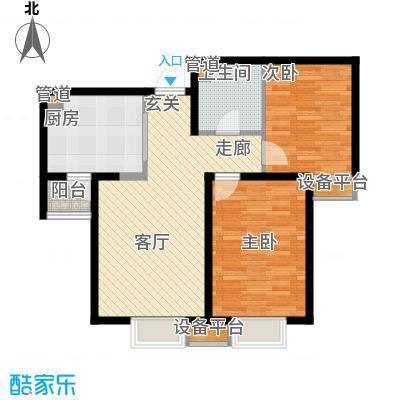 滨海智谛山88.81㎡二期18号楼标准层私邸户型