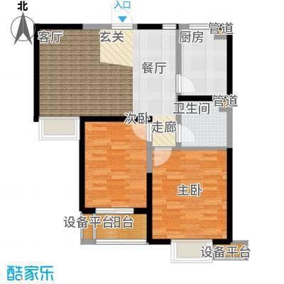 滨海智谛山89.71㎡一期3号楼标准层C户型
