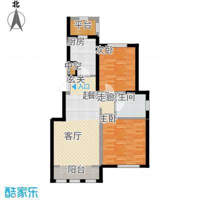 融科瀚棠91.18㎡4、6、8号楼洋房标准层C户型