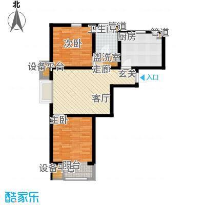 华城领秀89.00㎡三期5、9号楼标准层C2户型