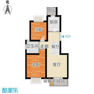 华城领秀85.25㎡一期1号楼标准层J2户型