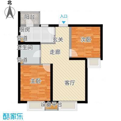 滨海智谛山87.03㎡二期22号楼标准层暖阁户型
