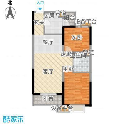 滨海智谛山91.47㎡一期10号楼标准层A2户型