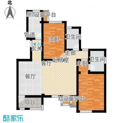 世嘉110.49㎡洋房37、38号楼五层G户型