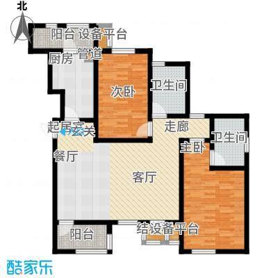 世嘉114.99㎡洋房37、38、39、41号楼六层G1户型