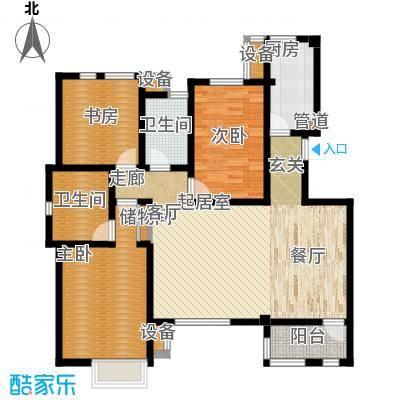 世嘉121.06㎡洋房37、38号楼四层H2户型