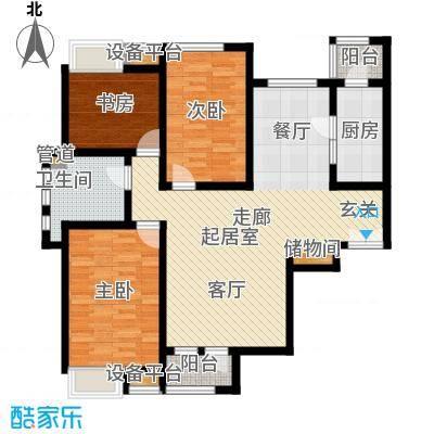 世嘉135.27㎡高层标准层E户型