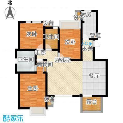世嘉118.42㎡洋房37、38号楼三层H1户型