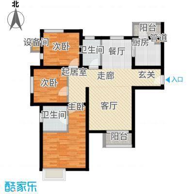 双威悦馨苑133.00㎡高层标准层C户型