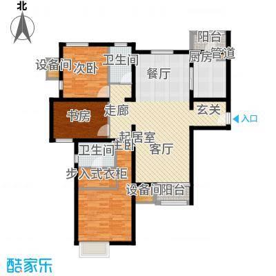 双威悦馨苑149.00㎡高层标准层D户型
