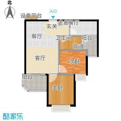 恒大金碧天下92.04㎡202-3号楼02、03户型