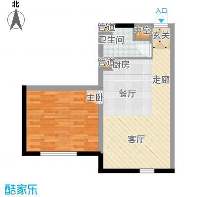 宝利国际广场云观公寓73.00㎡公寓2号楼标准层E户型