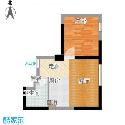 宝利国际广场云观公寓59.00㎡公寓2号楼标准层G户型