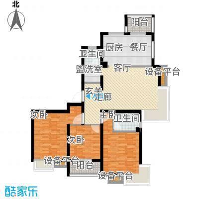 天房翠海红山138.90㎡小高层标准层F户型