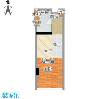 深圳湾72.00㎡A栋17-39层公寓套房E户型