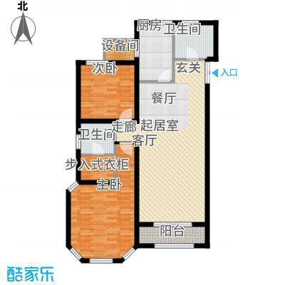 海宁湾127.24㎡1、2、3号楼标准层A3户型