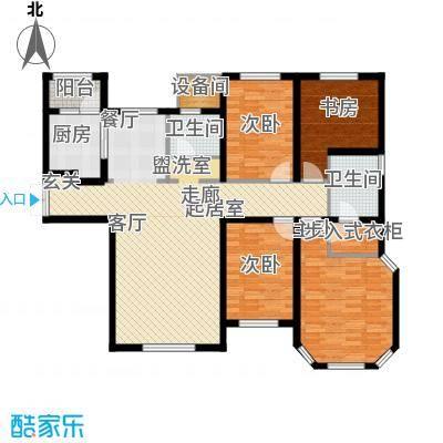 海宁湾165.02㎡6、7号楼标准层C5户型