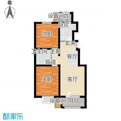 荔隆观邸98.57㎡2-6号楼标准层A3户型