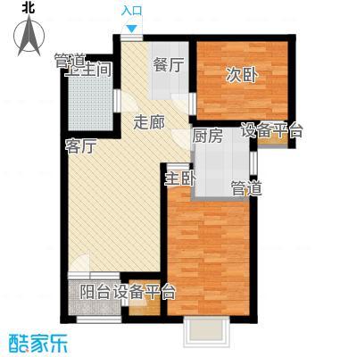 荔隆观邸93.43㎡2-6号楼标准层C2户型