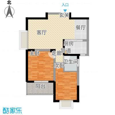 旺东盛园85.00㎡2居室面积8500m户型