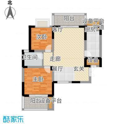 旺东盛园87.00㎡2居室面积8700m户型