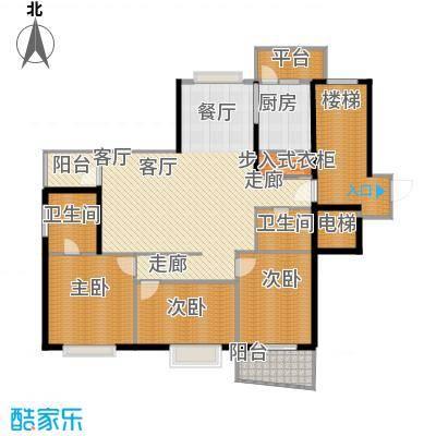 盈峰翠邸177.00㎡面积17700m户型