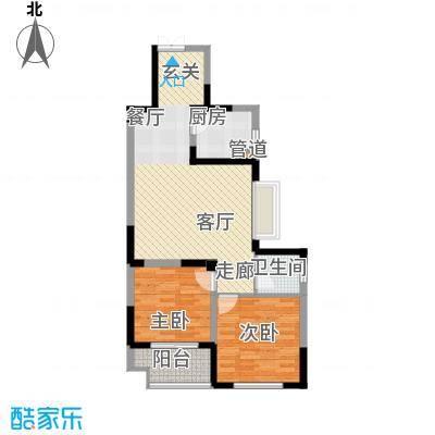 旺东盛园2居室户型