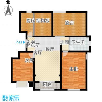 融创君澜融公馆100.00㎡洋房7、9、10号楼标准层A3户型