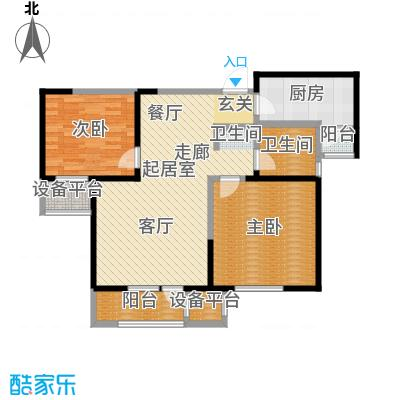 中兴泊仕湾86.85㎡一期高层1号楼标准层B户型