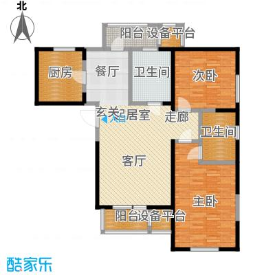 中兴泊仕湾108.00㎡一期高层1号楼标准层F户型