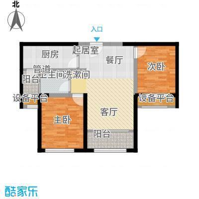 融创洞庭路壹号83.00㎡10-12、17-19号楼标准层C2户型