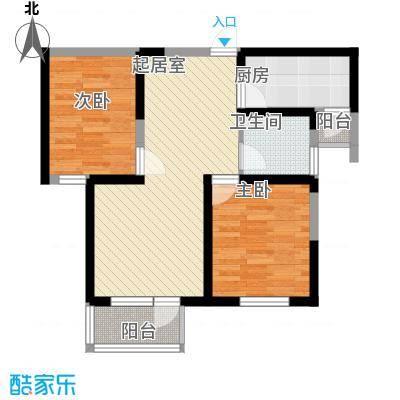 紫竹华庭90.00㎡二期4号楼标准层B户型