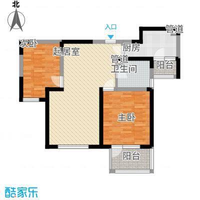 紫竹华庭88.00㎡二期1、4号楼标准层E户型